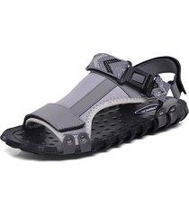 sandali casual antiscivolo in pelle con fibbia ad anello