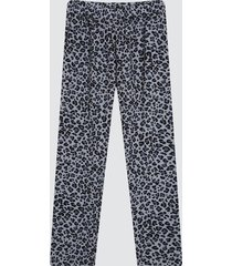 pantalon mujer animal print color gris, talla l