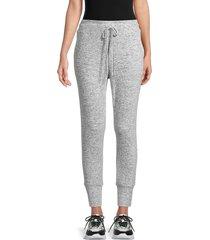 bobeau women's brushed melange joggers - heather grey - size l