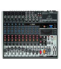 mixer mesa de som behringer x1832usb xenyx bivolt 16 entradas cinza