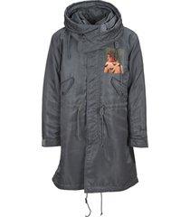 undercover jun takahashi undercover markus åkesson painterly-print hooded parka