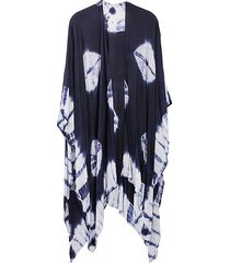 tie-dyed poncho