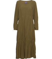 ester solid jurk knielengte groen line of oslo
