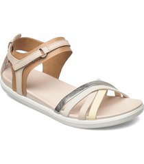 simpil sandal shoes summer shoes flat sandals creme ecco