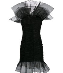 alessandra rich tulle design dress - black