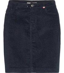 corduroy mini skirt kort kjol blå tommy hilfiger