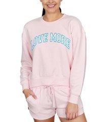 rebellious one juniors' love more graphic-print sweatshirt