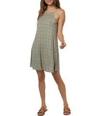o'neill morette tile tank dress, size x-large in sage green at nordstrom
