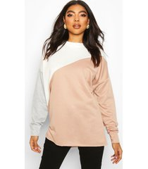 tall colour block sweater, steenrood