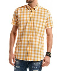 camisa manga corta checkered kansas amarillo ferouch