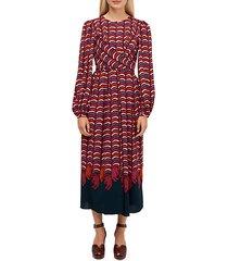 wild-print midi dress