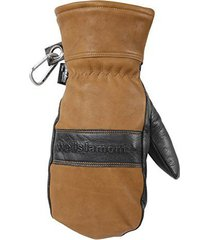 wells lamont mens hydrahyde full grain leather mitten, water resistant, thinsula