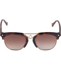 altuzarra women's 51mm core clubmaster sunglasses - dark brown