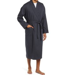 men's majestic international 'signature' cotton robe, size large/x-large - grey