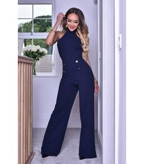 ctw katrina halter button jumpsuit