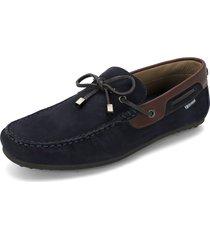 zapato azul navy preppy mocasin nobuck