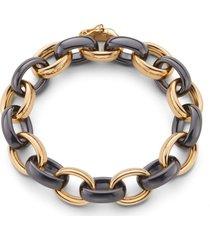 marilyn black ceramic link bracelet
