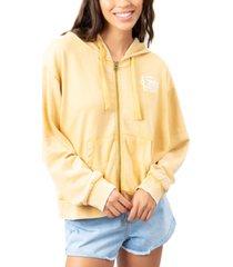 rip curl juniors' graphic zippered hoodie