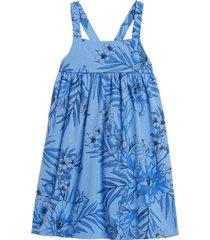 vestido manga corta azul gap