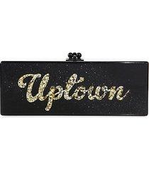 flavia uptown/downtown acrylic clutch