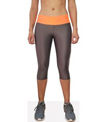 leggings deportivo corto mujer gris oscuro tykhe calipso