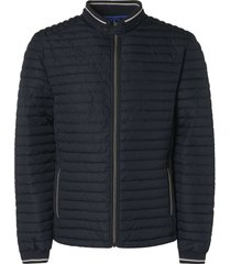 no excess jacket, short fit, dull nylon, fake night