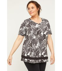 palm branch tunic top