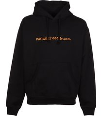 paccbet cotton emb hoodie knit