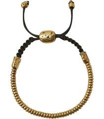 4mm distressed rondelle bracelet