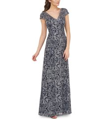 js collections soutache-embroidered gown