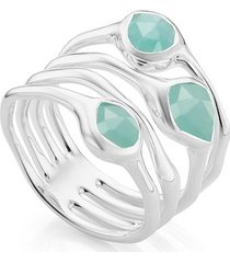 sterling silver siren cluster cocktail ring amazonite