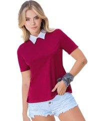blusa para mujer vinotinto atypical