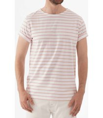 armor lux breton striped mariniere t-shirt - white & lotus 73842