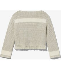 stripe fringe sweater