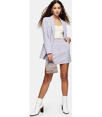 lilac pelmet mini skirt - lilac