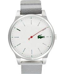 lacoste kyoto stainless steel & mesh bracelet watch