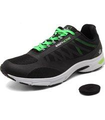 zapatillas golty active thunder - negro/verde