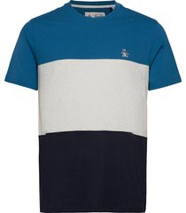 colour block t-shirt t-shirts short-sleeved blå original penguin