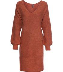 abito in maglia con maniche a palloncino (marrone) - rainbow