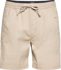 edit taper drawstring short shorts casual beige superdry