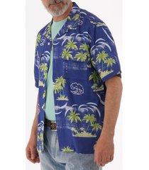 edwin garage shirt - blue island i026644