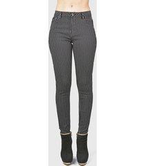 jeans tentation estampado rayas negro - calce ajustado