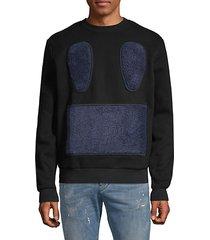 carpet face cotton blend sweatshirt