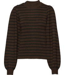 wool mix knit gebreide trui bruin ganni