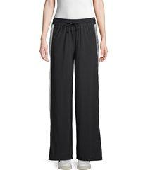 koral activewear women's wide-leg drawstring pants - black white - size xs