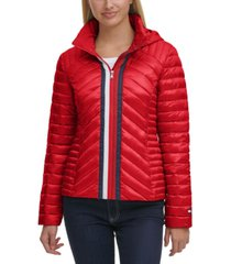 tommy hilfiger quilted zip puffer coat