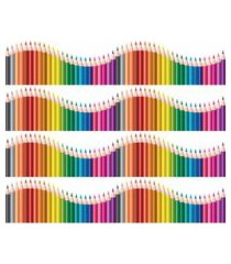 adesivo de parede quartinhos faixa decorativa infantil lapis 10m x 10cm