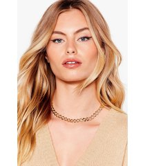 womens chain-ge the record curb chain necklace - gold