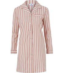 randig pyjamasskjorta med lång ärm