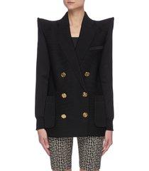 peaked shoulder oversized blazer
